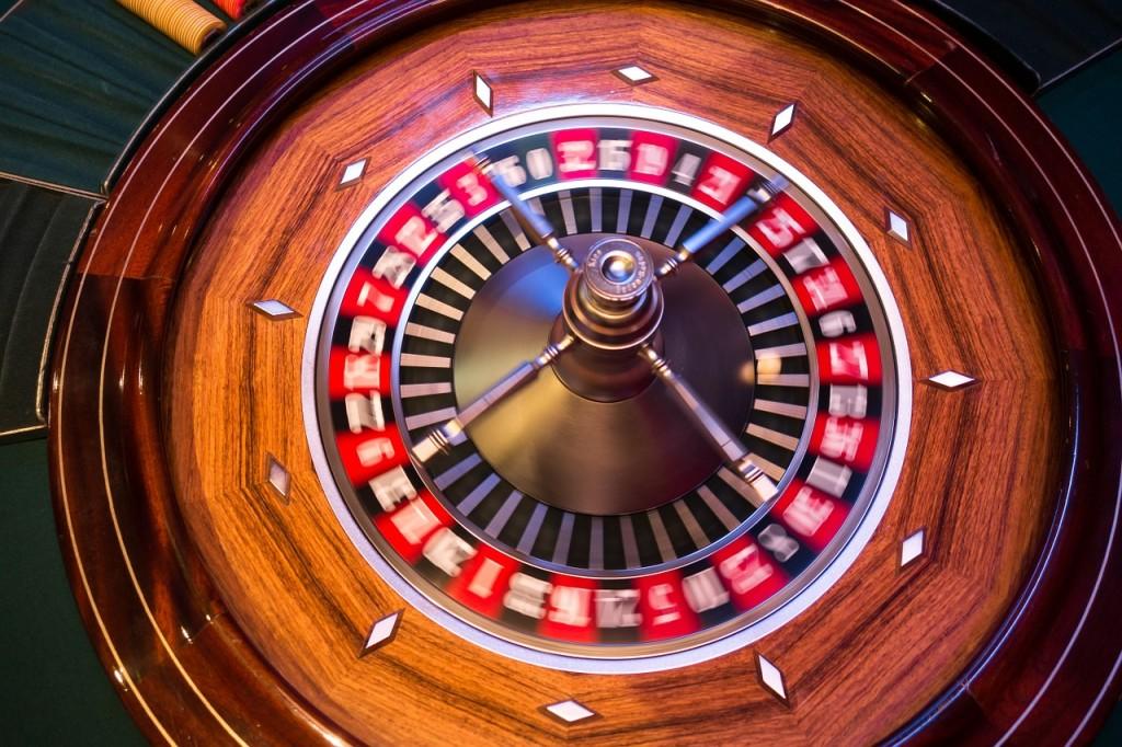 Roulette Wheel spinning.