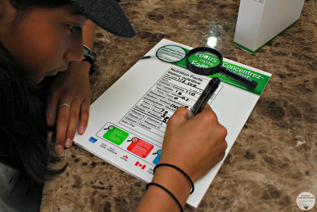 Become a label reader! Use the Nutritional Fact Chart to make informed food choices! #FocusOnTheFacts