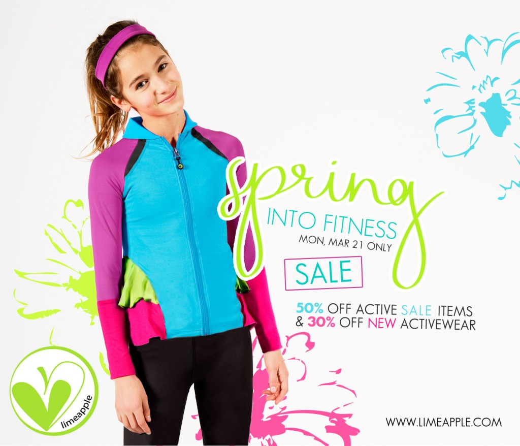 Spring Into Fitness and Take Advantage of 50% off active sale items and 30% off new activewear!