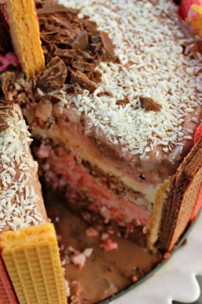 Neapolitan Ice Cream Cake!