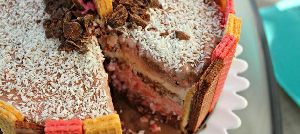 Neapolitan Ice Cream Cake!