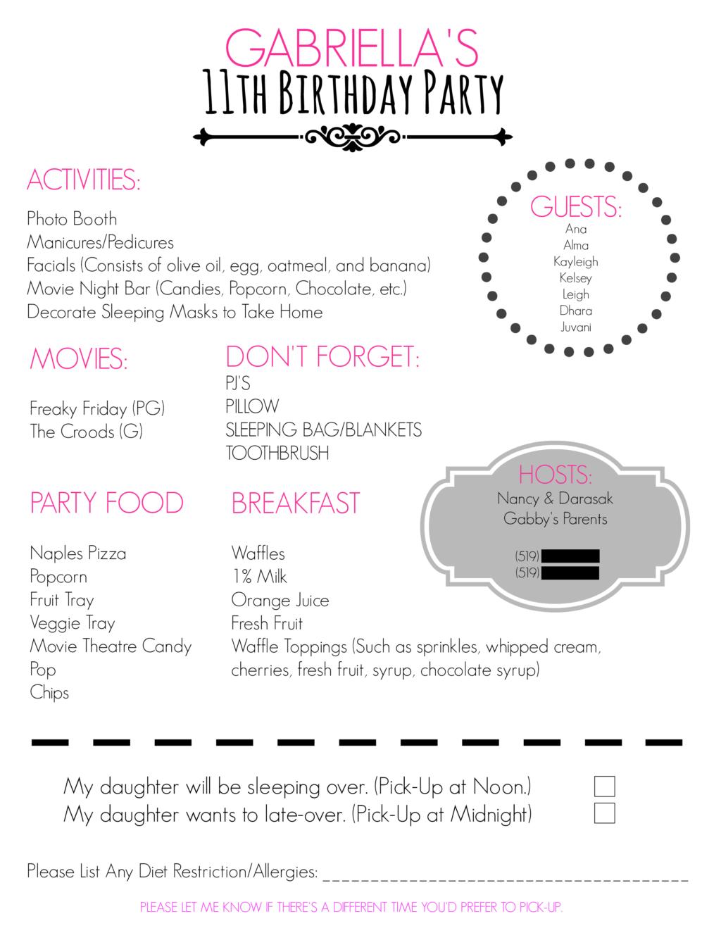 Tween Sleepover Party Ideas + FREE Printable! #DIY - Whispered ...