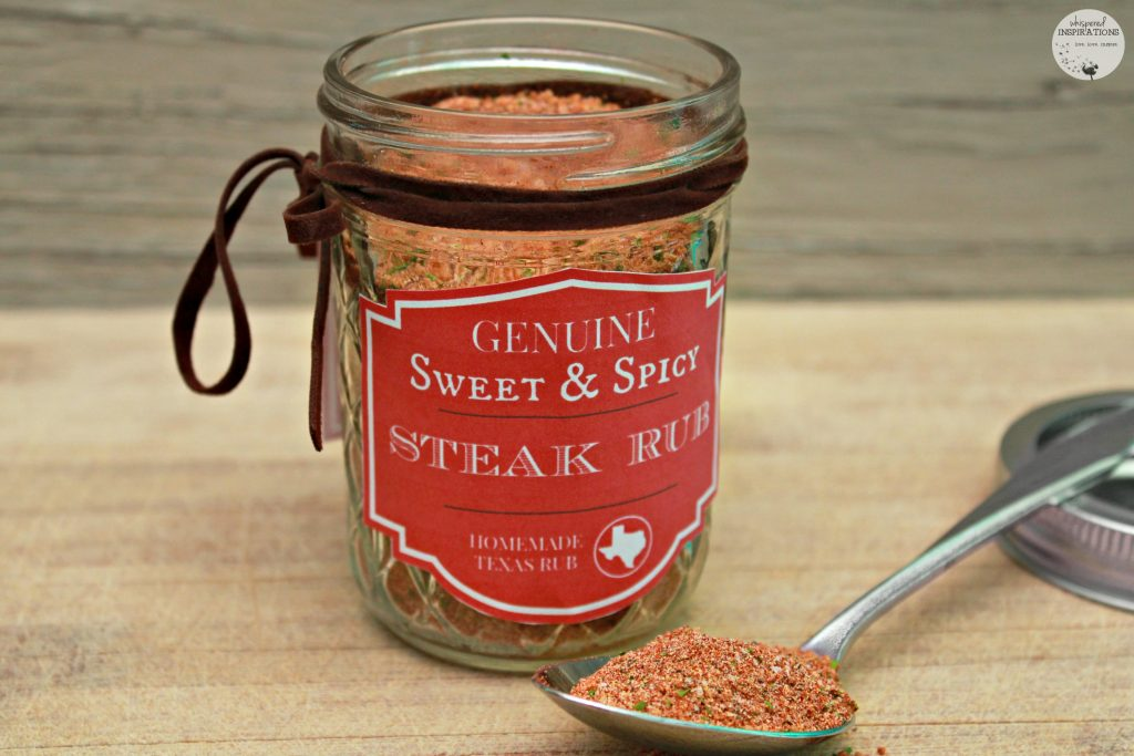 DIY Sweet & Spicy Steak Rub in a mason jar.