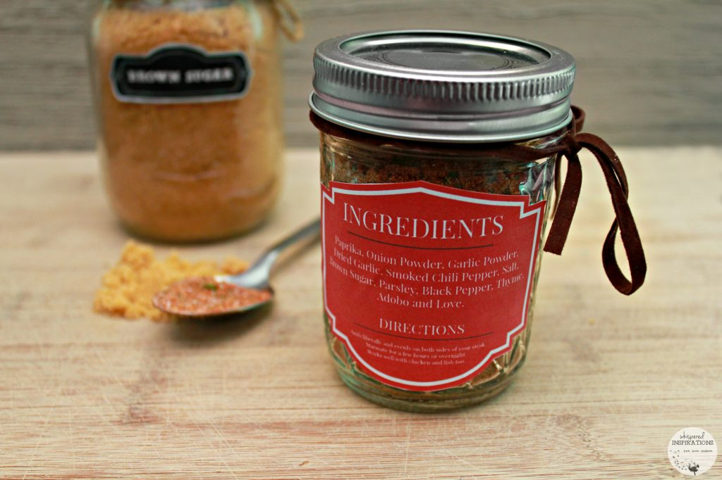 Sweet & Spicy Steak Rub with my downloadable label with all the ingredients and directions.