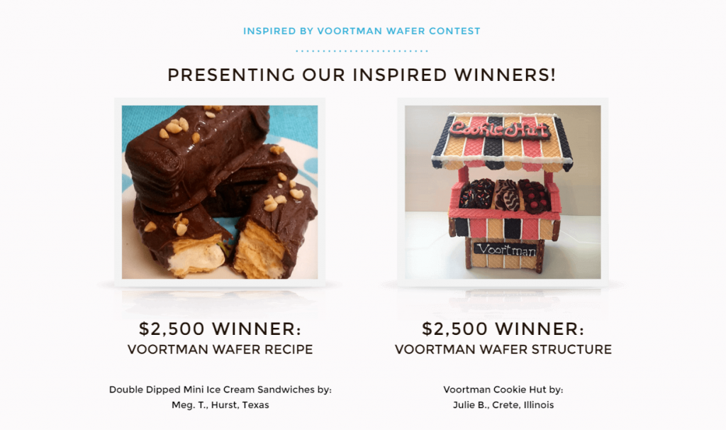 Inspired by Voortman - Wafer Contest Winners