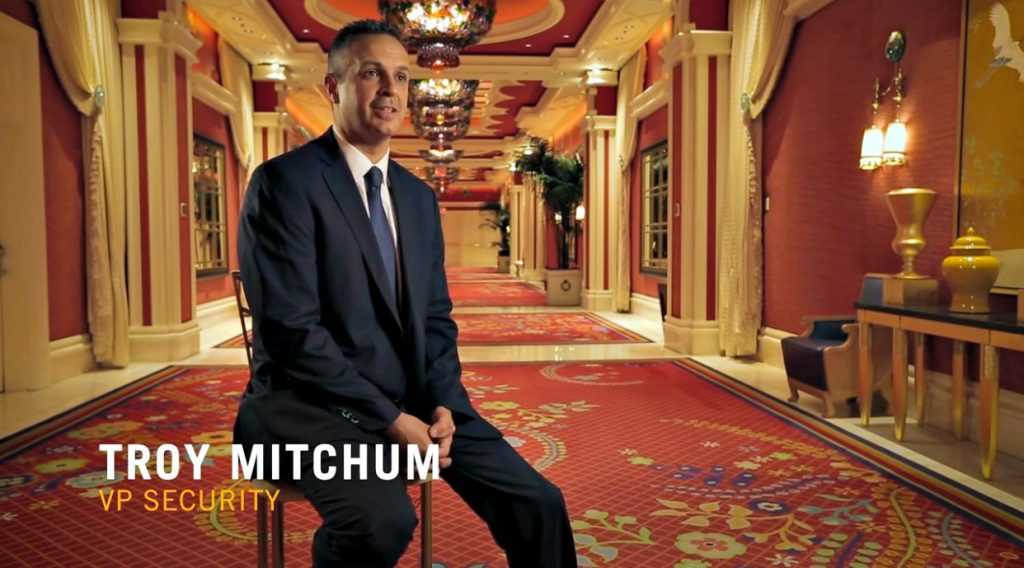 The VP Security of the Wynn Vegas, Troy Mitchum.
