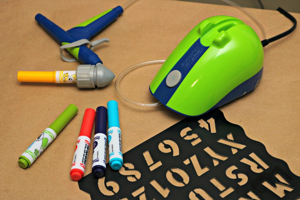 Airbrush Like a Pro with the Crayola Air Marker Sprayer!