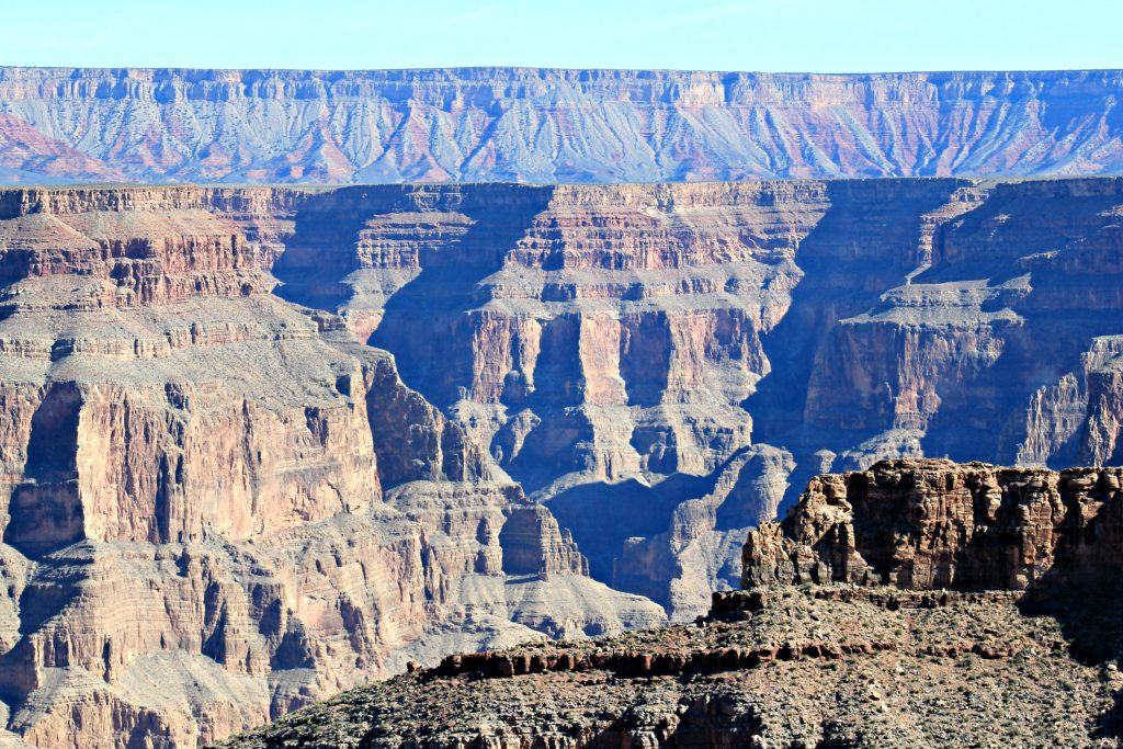 The picture of the Grand Canyon as far as the eye can see.