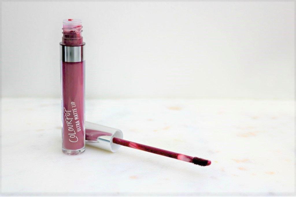 A ColourPop Ultra Matte lipstick, opened.