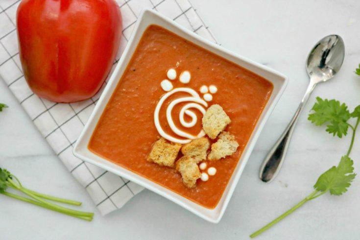 Creamy Red Pepper & Tomato Blender Soup