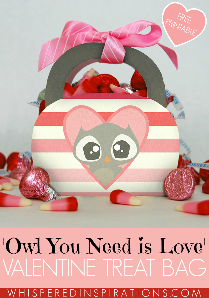 FREE 'Owl You Need is Love' Valentine Treat Bag Holiday Printable! #ValentinesDay