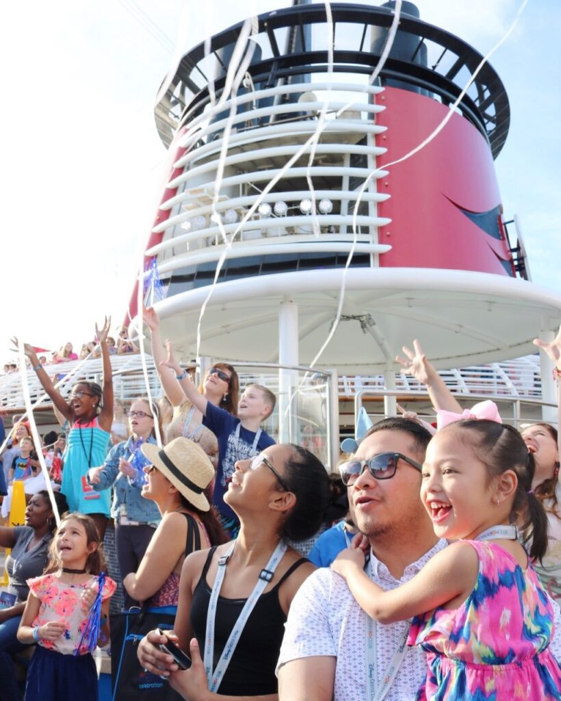 Mimi, Gabby, and Darasak on the Disney Dream.