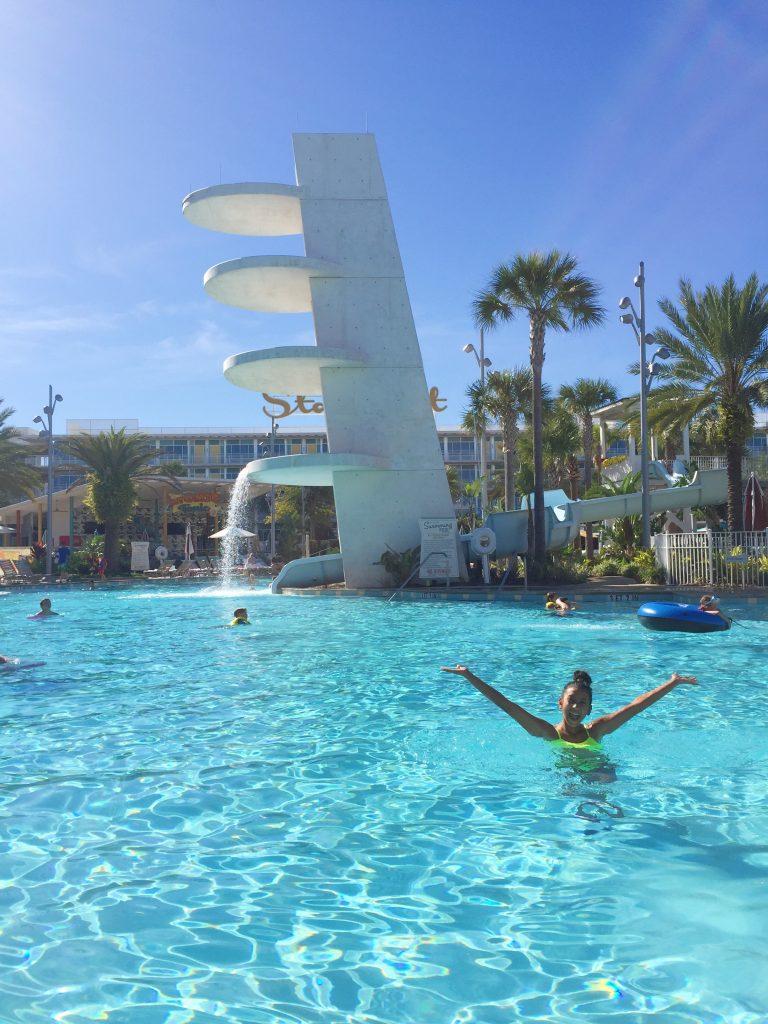 Gabby at Universal Studios resort.