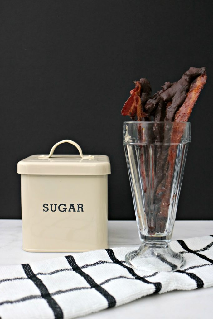 Easy Maple-Candied Chocolate Bacon