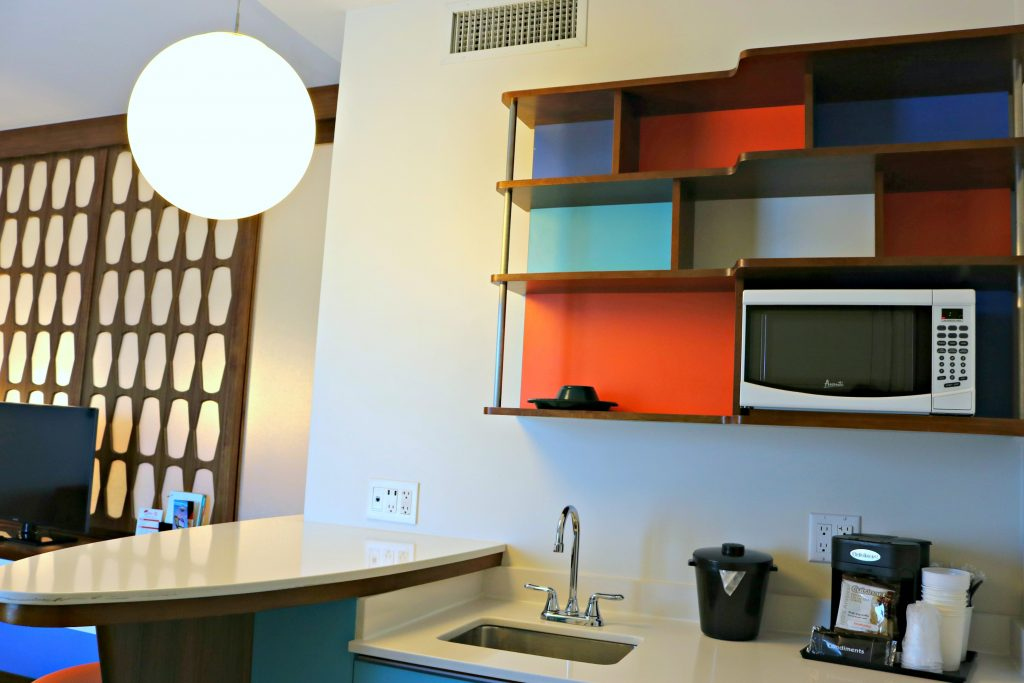 Kitchenette in the family suite at Cabana Bay Beach Resort.