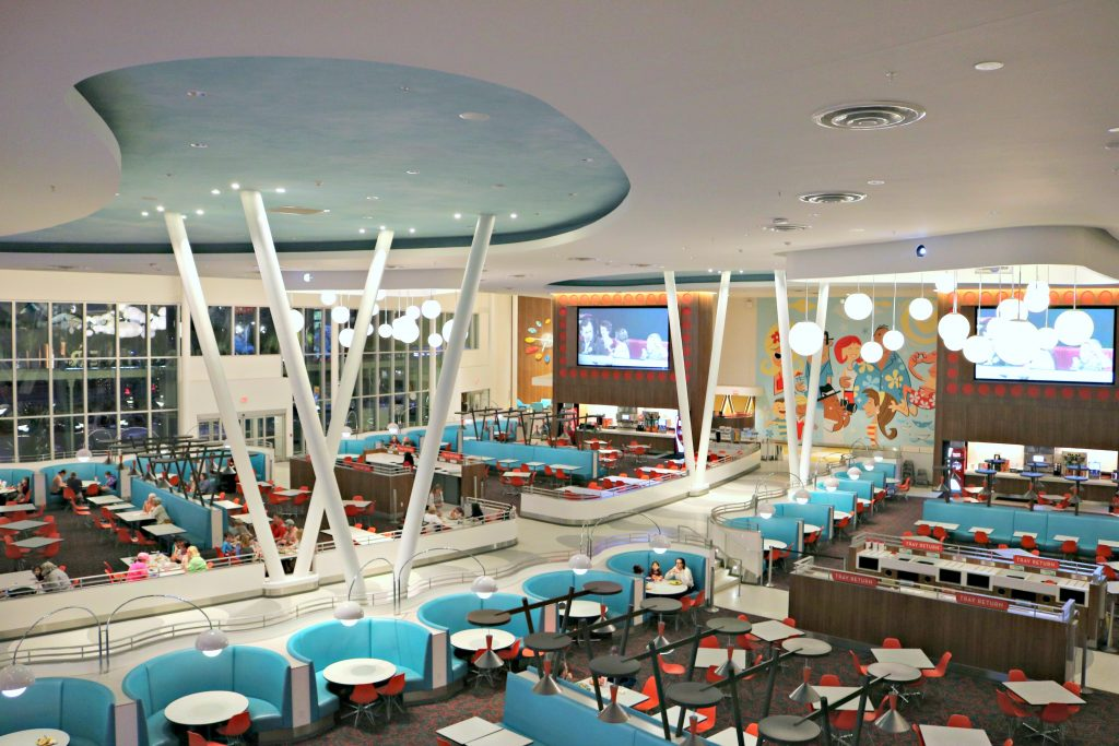 The cafeteria in the Cabana Bay Beach Resort.