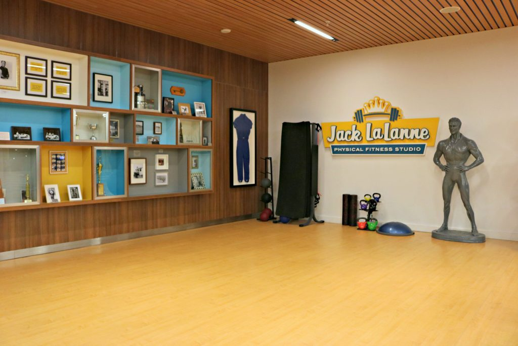 Jack LaLanne gym inside the Cabana Bay Beach Resort.