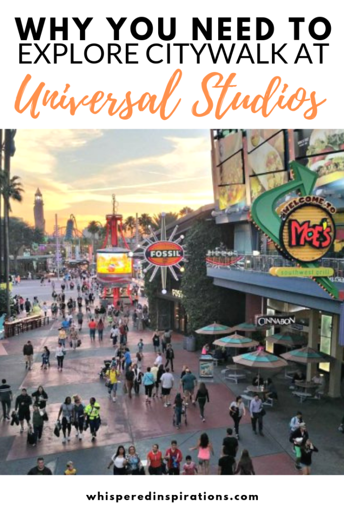 Exploring CityWalk in Universal Studios in Orlando. Did you know that that they have an entertainment district that you can explore for free? #CityWalk #UniversalStudios #UniversalMoments