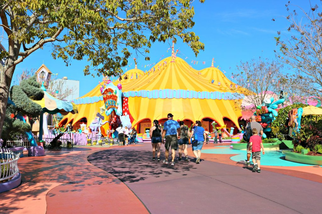 People explore Seuss Landing.