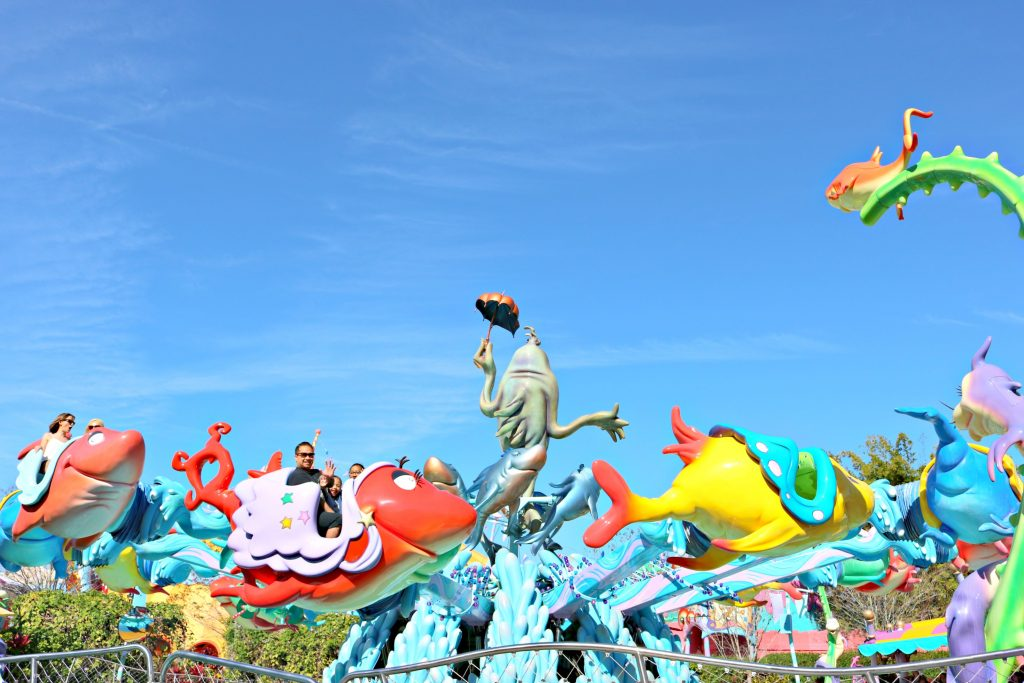 One Fish, Two Fish, ride at Universal Studios in Seuss Landing.