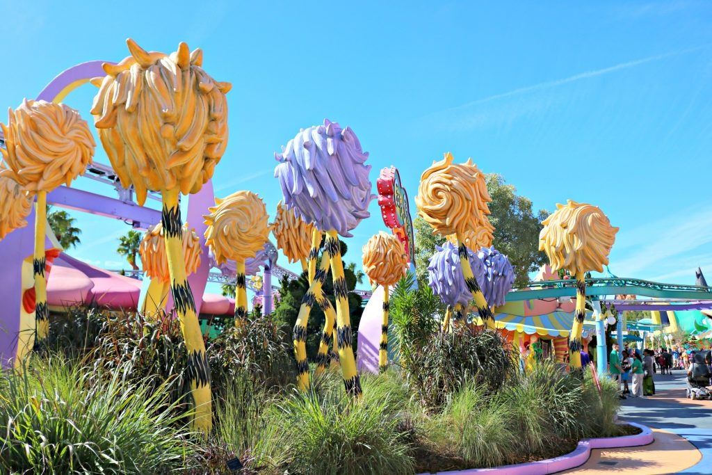 Truffula trees at Universal Studios.