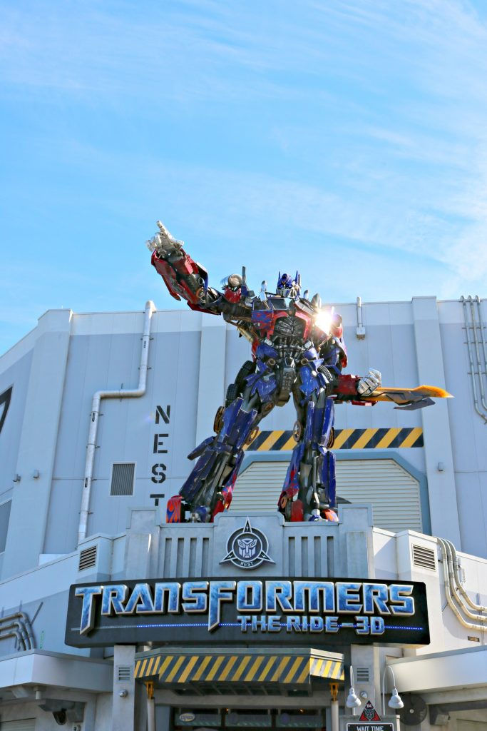 Transformers ride at Universal Studios, Florida.