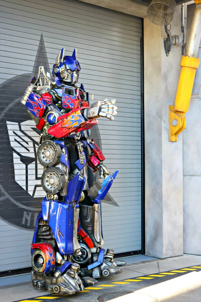 Optimus Prime poses for the camera.