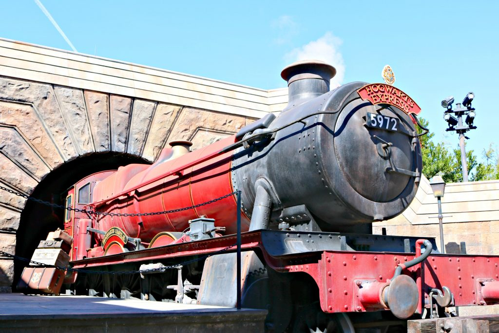 The Hogwarts Express at Universal Studios.