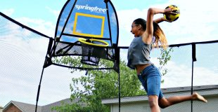 How to Keep Your Family Active with a Springfree Trampoline! #Springfree150