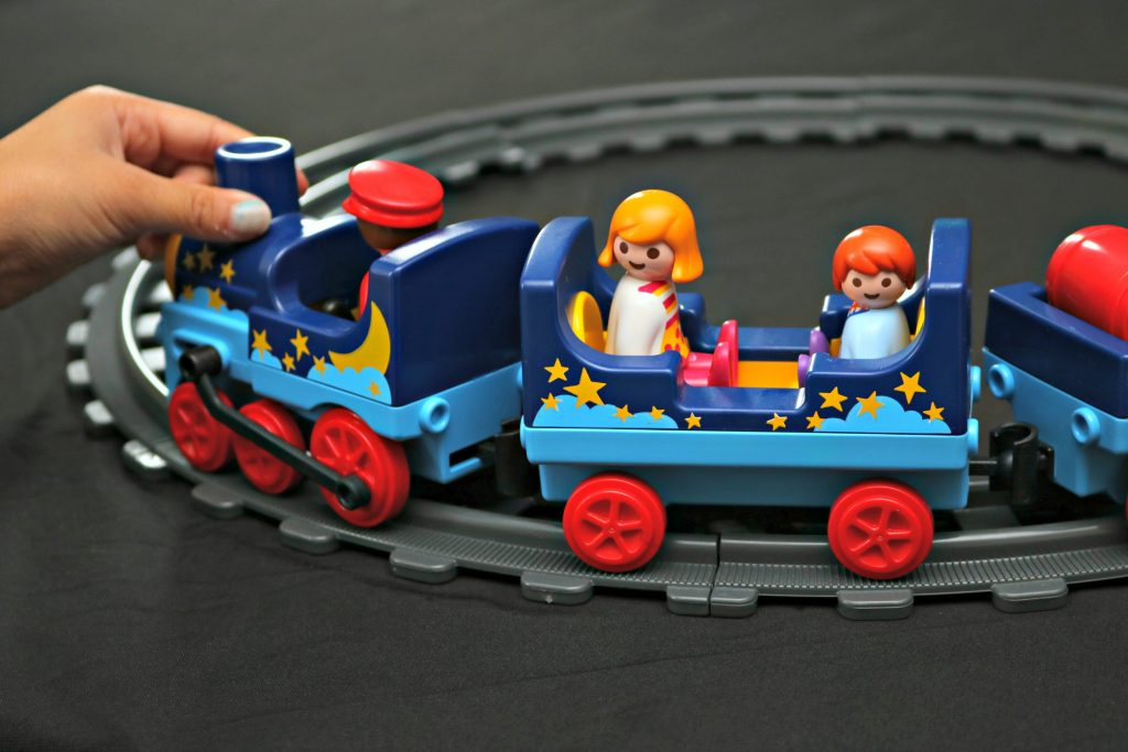 All Aboard the PLAYMOBIL 1. 2. 3. Night Train w/ Track + Giveaway!