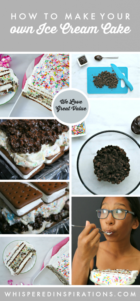 Turn Every Day into a Party with this Great Value Ice Cream Cake Recipe! #WeLoveGreatValue