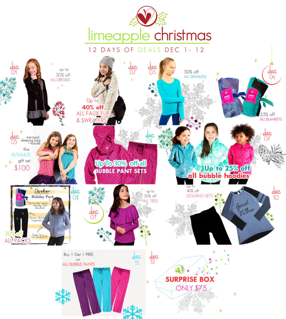 Limeapple's 12 Days of Christmas is Here! #LimeappleLove