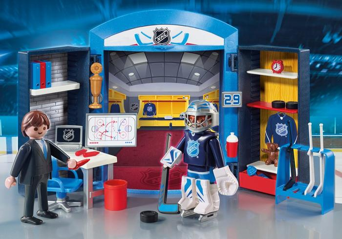 PLAYMOBIL NHL Locker Play Box + Giveaway!