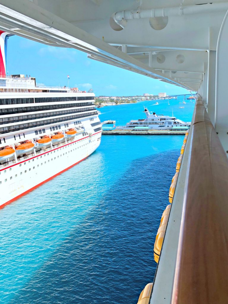 The Disney Dream is ported in Nassau.