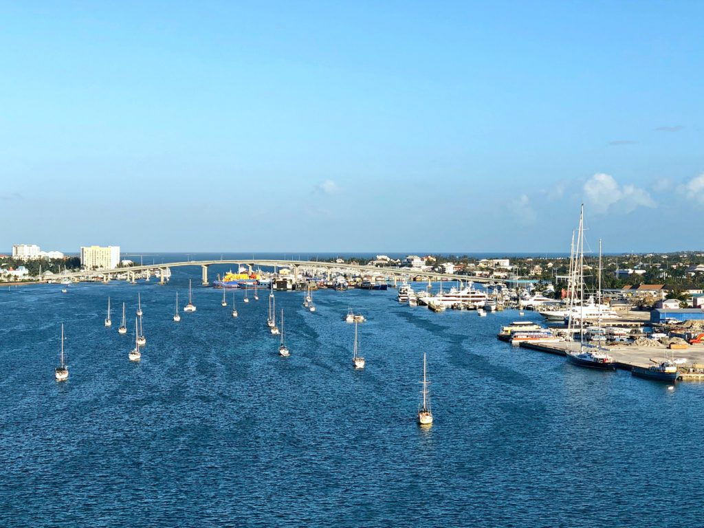 The Nassau, Bahamas port.