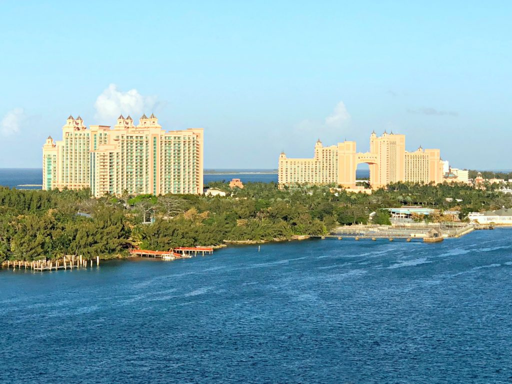 Atlantis Resort from the Disney Dream.