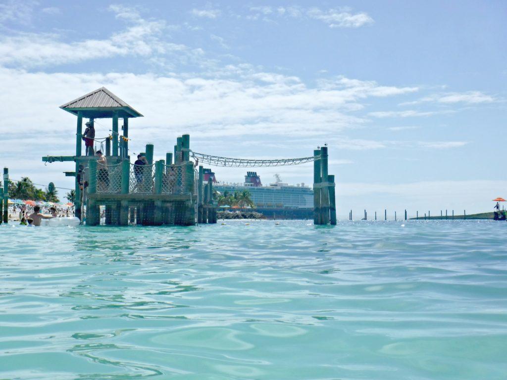Castaway Cay beach and play area.