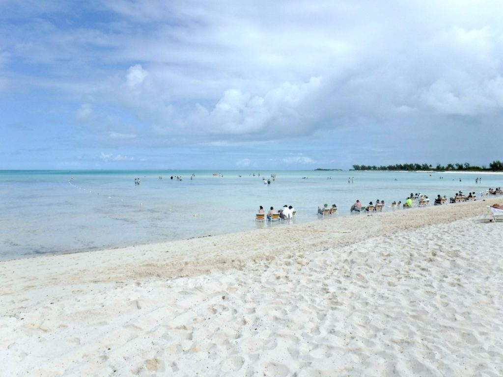 Serenity Bay beach, another perk at Castaway Cay for adults.