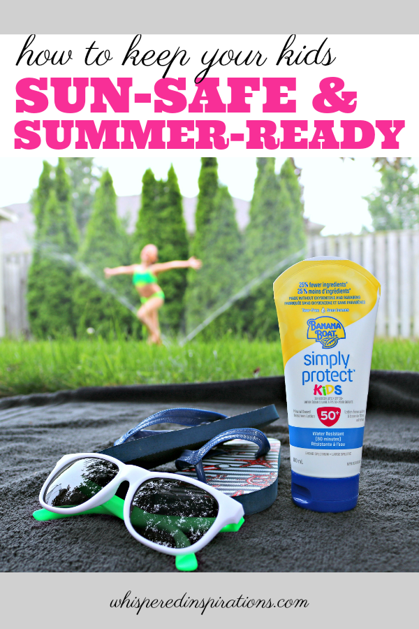 Once the warmer weather comes around, all my kids want to do is be outside in it. Here is how to Keep Your Kids Sun-Safe & Summer Ready! #tips #skincaretips #sunsafety