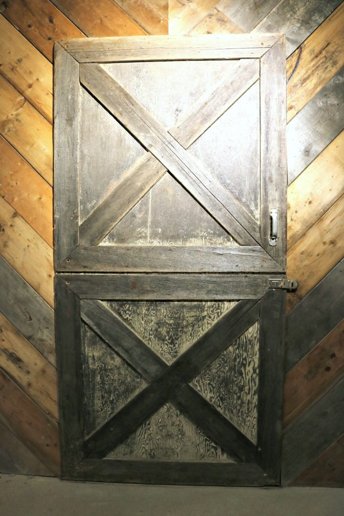 The original barn door from the original barn where the winery started.