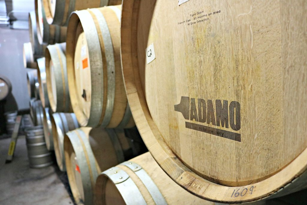 Adamo barrels are shown.