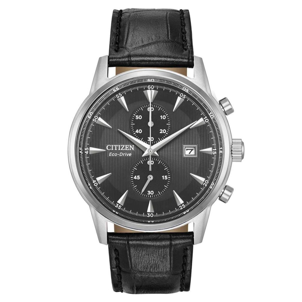 A gorgeous Citizen leather watch.