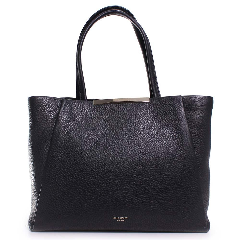 Kate Spade black leather bag.