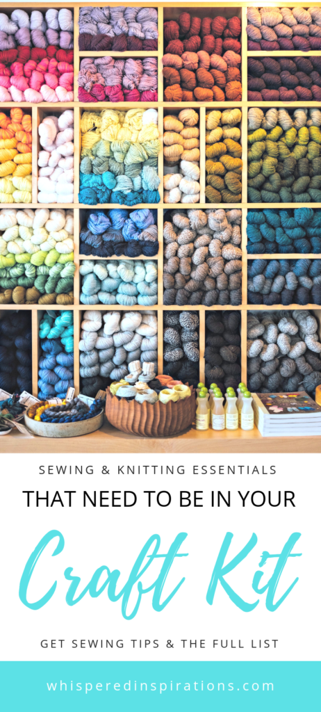 When hit with a sudden feeling of inspiration, you will want to break out your craft supplies. Here are essentials that need to be in your craft kit! #knitting