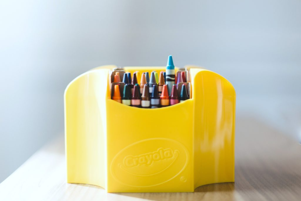 A package of crayons are shown, one of the things you need for back to school bills.