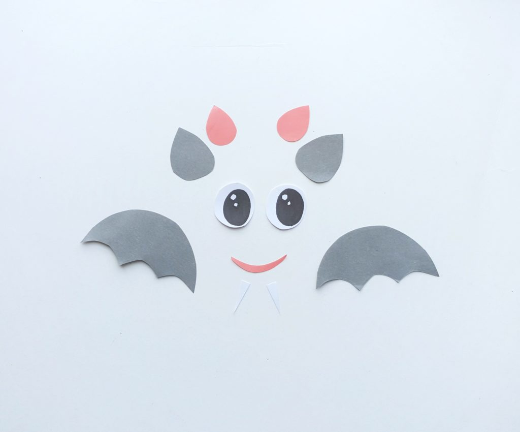 The cutouts to make the super cute bat.