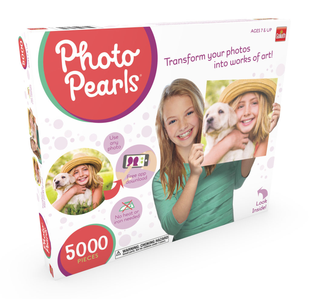 Photo Pearls box is shown and shows girls making art projects.