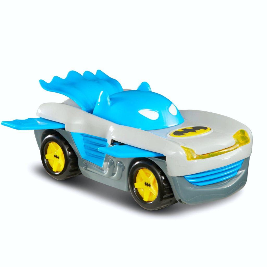 A cool Batman car with a cape.