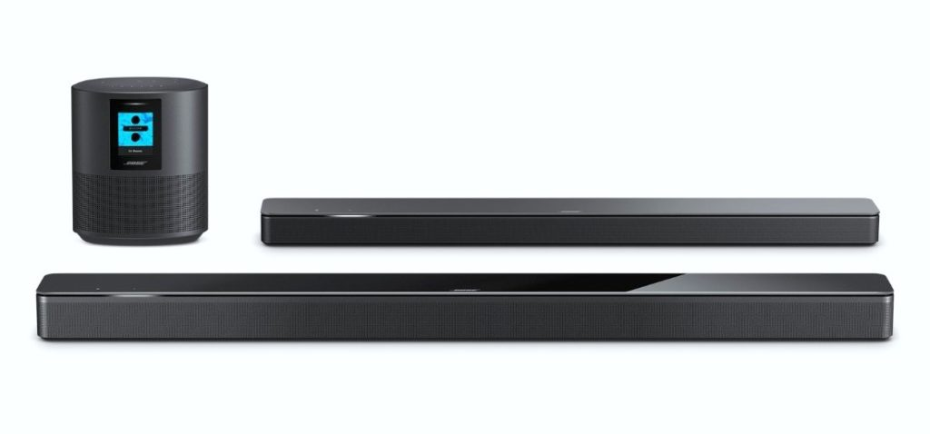 Bose speaker and Bose Soundbars are shown.