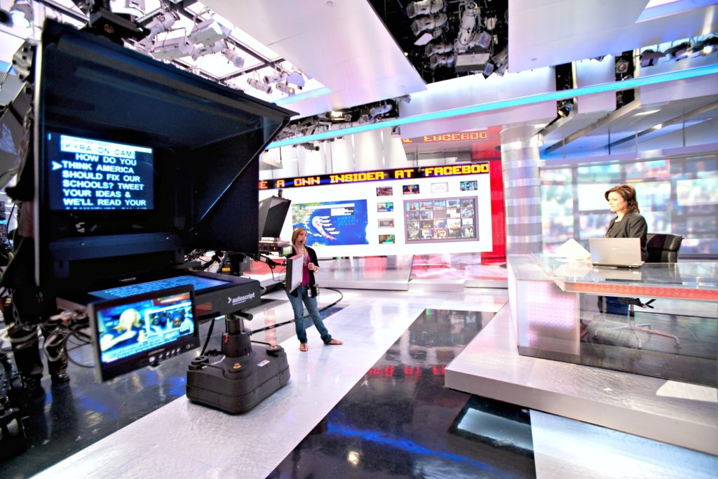The CNN newsroom in Atlanta, Georgia.